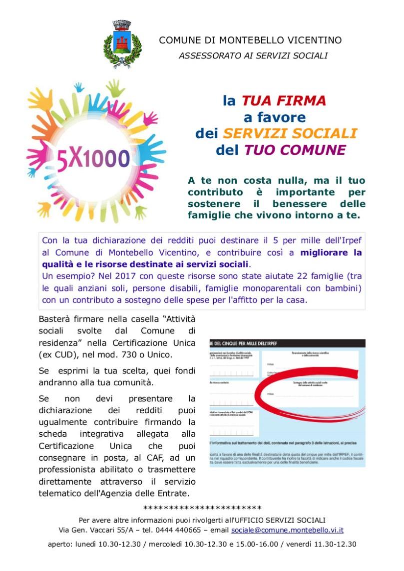 5 per 1000 locandina 2018