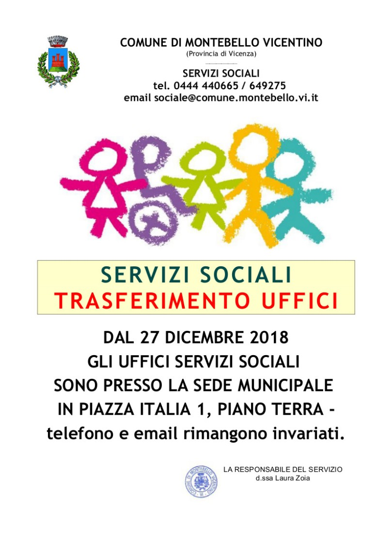 trasferimento servizi sociali