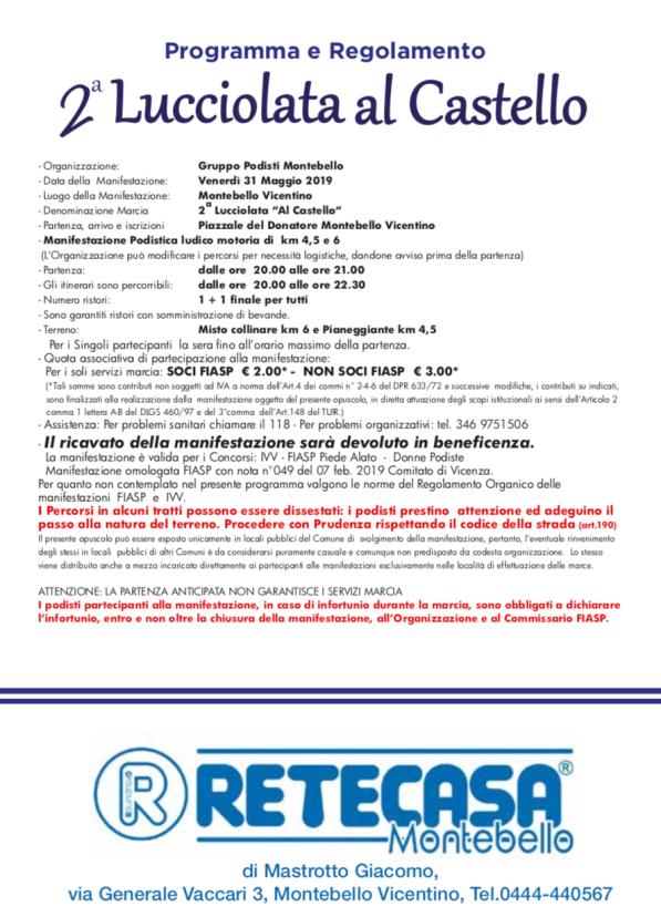 Retro Lucciolata al Castello 2019
