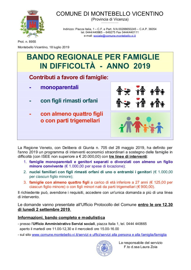 Bando Famiglie_2019_avviso
