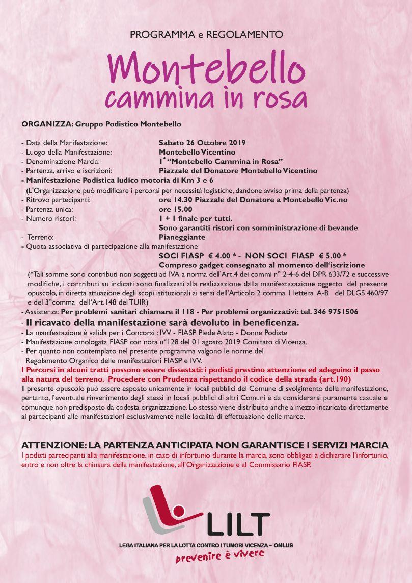 retro volantino camminata in rosa2019